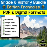 Grade 8 History Bundle French Edition