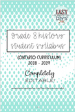 Grade 8 History Syllabus (Parent/Student) - Ontario Curriculum