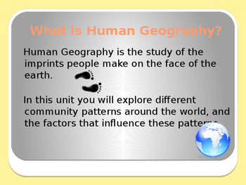 Grade 8: Human Geography Unit 1