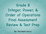 Grade 8 Integer, Power, and Order of Operations Review & T