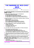 The Ransom of Red Chief - Quiz/Assessment