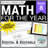 Math Unit Bundle: Entire Year of Grade 8 Math!  NEW Ontari