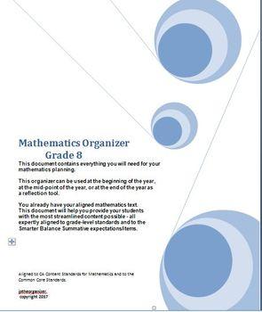 Grade 8 Math, CA Content Standards, Common Core Standards, Midyear Evaluation