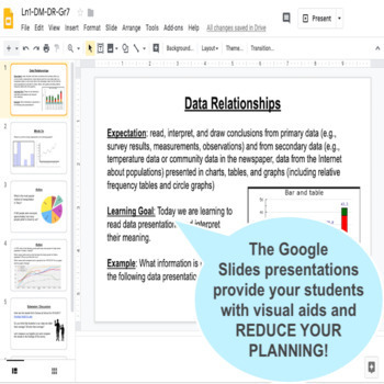 Data Management: Collect & Organize Data (Surveys & Graphs) Grade 8 Math Unit