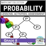 Probability Unit - Data Management - Grade 8 Math Unit