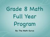 Grade 8 Math Full Year Program