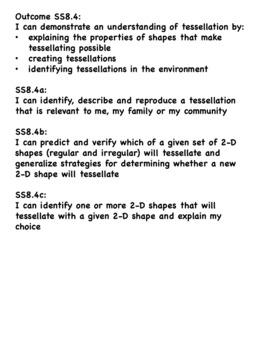 Grade 8 Math I Can Statement List - Saskatchewan Curriculum