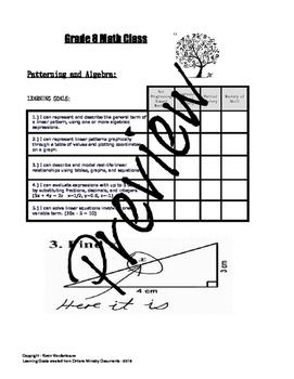 Grade 8 Math Learning Goals