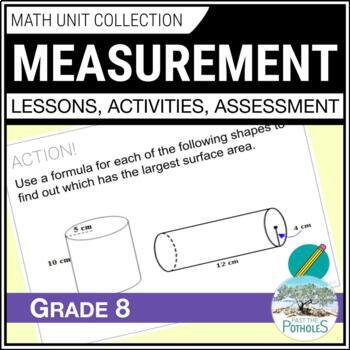 Measurement Unit (Surface Area and Volume) - Grade 8 Math Unit
