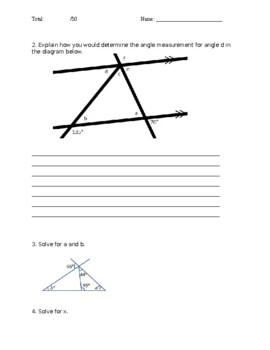 Grade 8 Math Midterm