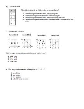 Grade 8 Math Practice Exam - COMPLETE TEST (Days 1, 2 & 3)
