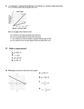 Grade 8 Math Practice Exam - Day 1