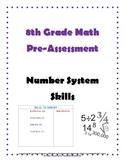 Grade 8 Math Pre-Assessment