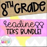 Grade 8 Math STAAR EOC Test Prep Task Cards READINESS TEKS