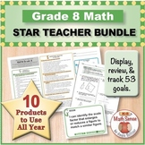 Grade 8 Math STAR TEACHER BUNDLE (Communication, Review, Tracking)