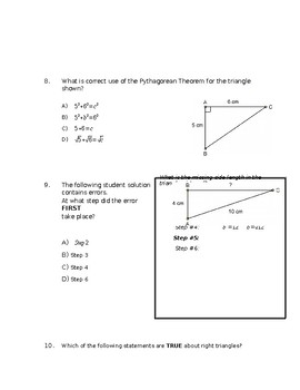 Grade 8 Math - Square Roots and Pythagorean Theorem
