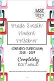 Grade 8 Math Syllabus (Parent/Student) - Ontario Curriculum