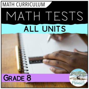 Math Tests, Study Guides, Culminating Activities - All Units - Grade 8