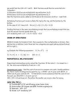 Grade 8 Maths Ontario Mini-Textbook
