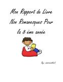 Grade 8 Nonfiction Book Report in French/ Mon Rapport de L