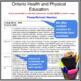 Report Card Comments - HEALTH & PHYSICAL EDUCATION - Ontario Grade 8