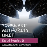 POWER AND AUTHORITY Unit - Saskatchewan Social Studies 8 -