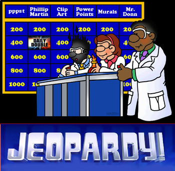 Grade 8 Patterning and Algebra Jeopardy Review Game