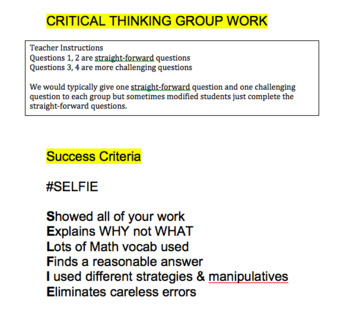 Grade 8 Powers Group Work Lesson
