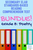 Grade 8 Prentice Hall Lit. Unit 4 Poetry Tests Bundle (17 total)
