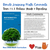 Grade 8 REMOTE LEARNING - New Ontario 2020 Math Curriculum