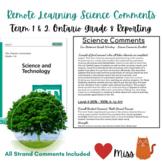 Grade 8 REMOTE LEARNING - Ontario Science Curriculum Repor