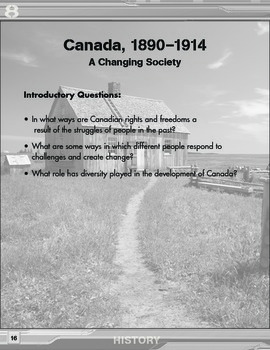 Grade 8 REVISED Ontario History Curriculum Companion