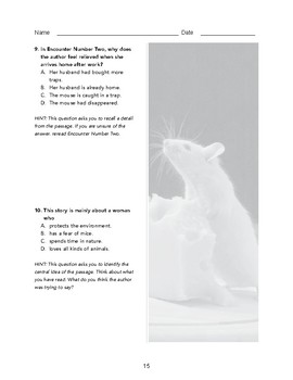 High School Reading Comprehension: Informational Text - Encounters with Mice
