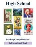 High School Reading Comprehension: Informational Text on t