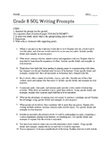 Grade 8 SOL Writing Prompts