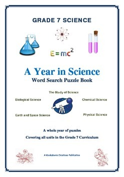 Grade 8 Science FULL YEAR of Wordsearch Puzzles ALL AREAS