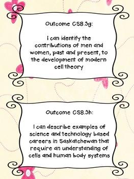 Grade 8 Science I Can Statements - Saskatchewan Curriculum