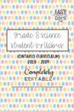 Grade 8 Science Syllabus (Parent/Student) - Ontario Curriculum