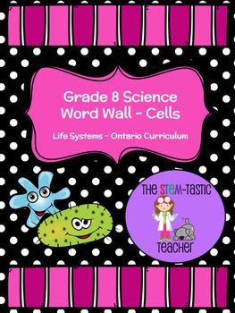 Grade 8 Science Word Wall - Life Systems (Cells)
