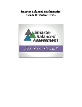 Grade 8 Smarter Balanced Released Practice Items