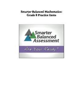 Grade 8 Smarter Balanced Released Practice Items