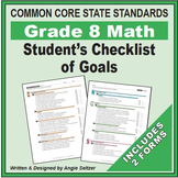 Grade 8 Student's 2-Page Checklist of Math Goals for CCSS