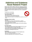 Grade 8 Substance/Addiction Health Project Outline - Ontario 2015 Curriculum