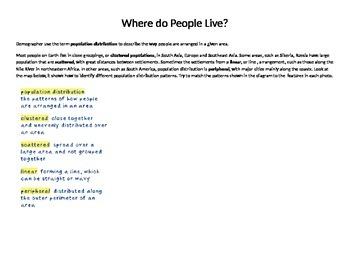 Grade 8 Unit 2 Where do People Live?