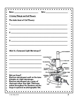 Grade 8 Unit A Cells - student workbook