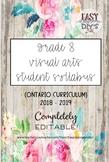 Grade 8 Visual Arts Syllabus (Parent / Student) - Ontario Curriculum