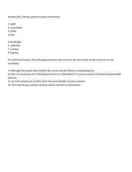 Grade 8 History Vocabulary Builder Pack 1