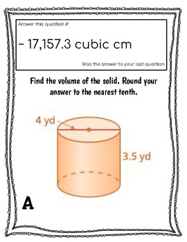 Grade 8 Volume of Cylinders, Spheres and Cones Self Check