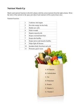 Grade 8 foods/cooking 60 minute class resources