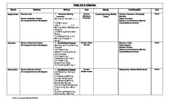 Grade 8 long range plans
